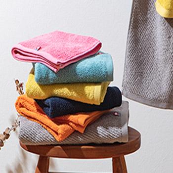 シンプルな無地カラーのタオル